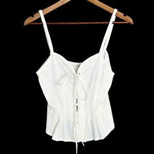 Free People Intimately corset tie up tank top